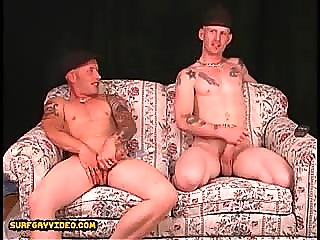 2 str8t tattooed street boy buds jack and talk about kinky sex shit with girls.