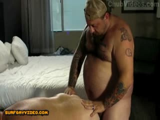 A fat daddy gets his big ass fucked