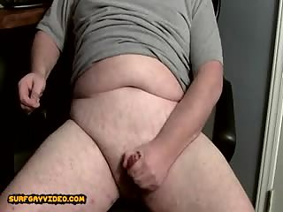 Chubby Shoots A Big Cum Load