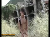 Hot Solo Mexican Twink Jerking Outside