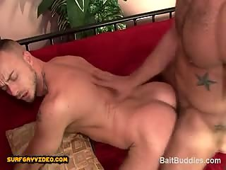 str8 hot Puerto Rican muscle stud gets his start in gay porn.
